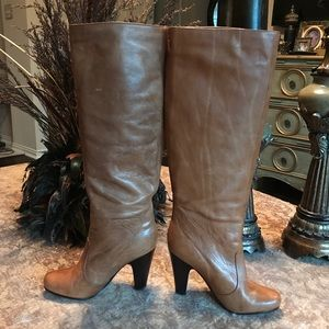 DOLCE VITA TAN LEATHER KNEE HIGH BOOTS 7 SO CUTE!
